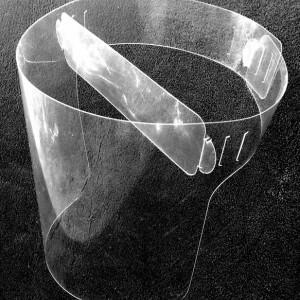 Przyłbica z sztywnej folii transparentnej PCV 0,30 mm